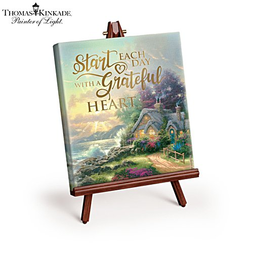 Thomas Kinkade 'Grateful Heart' Mini Art Canvas