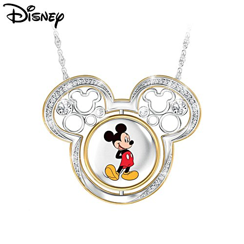 Disney Mickey Mouse 'Turn Through Time' Ladies' Pendant