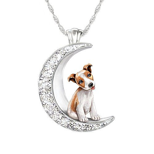 'I Love My Jack Russell To The Moon And Back' Ladies' Pendant