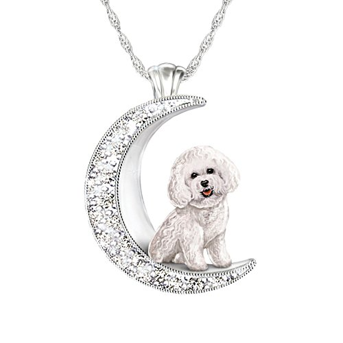 'I Love My Bichon Frise To The Moon And Back' Ladies' Pendant