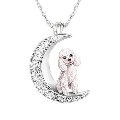 'I Love My Poodle To The Moon And Back' Ladies' Pendant