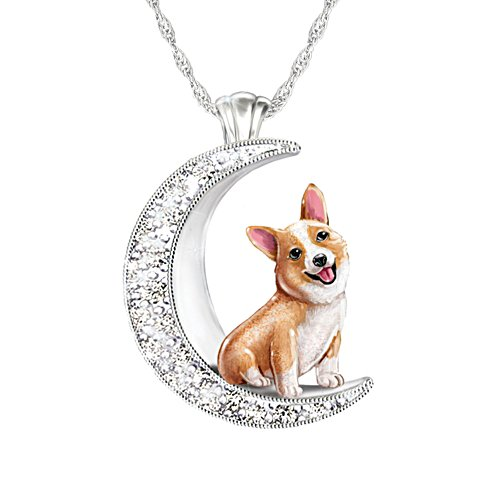 'I Love My Corgi To The Moon And Back' Ladies' Pendant