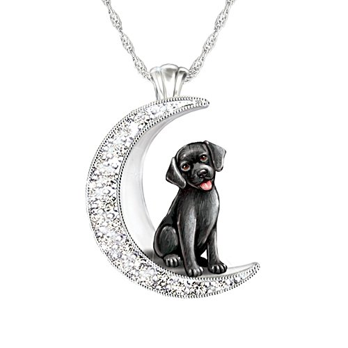 'I Love My Black Labrador To The Moon And Back' Ladies' Pendant