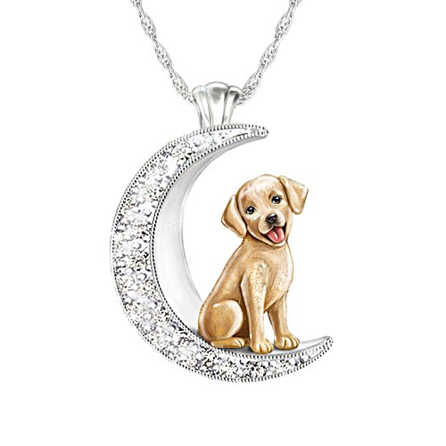 'I Love My Yellow Labrador To The Moon And Back' Ladies' Pendant