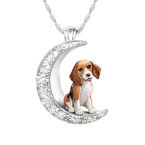 'I Love My Beagle To The Moon And Back' Ladies' Pendant