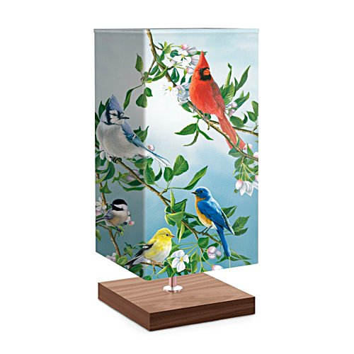 'Treetop Friends' Songbird Art Table Lamp