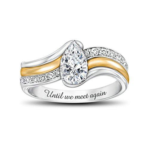 'Remember Me' White Topaz And Diamond Ladies' Ring