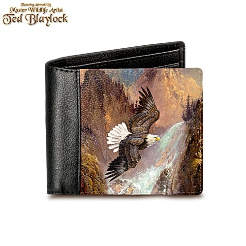 'Soaring Majesty' Eagle Leather Wallet