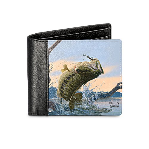 Bass Fishing Men's Leather Wallet