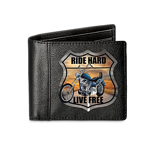 'Ride Hard' Men's Leather Wallet