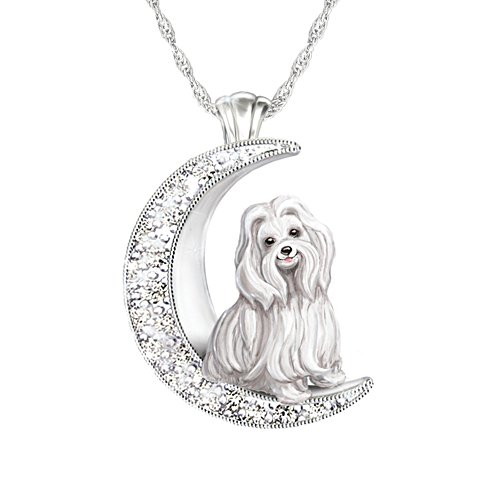 'I Love My Maltese To The Moon And Back' Ladies' Pendant