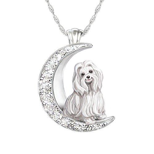 Mein treuer Malteser – Silberplattierter Hunde-Anhänger