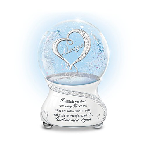 'Until We Meet Again' Musical Glitter Globe