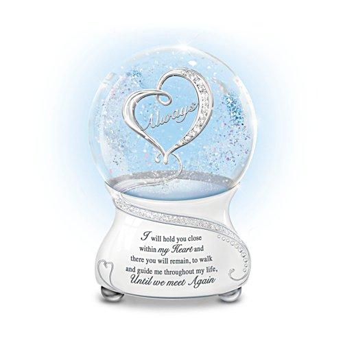 'Until We Meet Again' Musical Glitter Globe