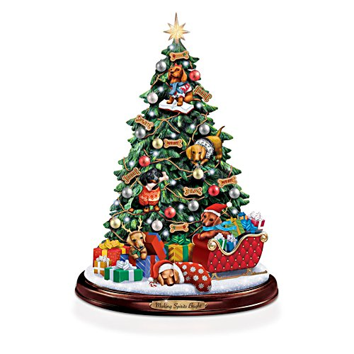 Dachshund Christmas Illuminated Tabletop Tree