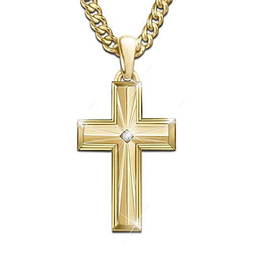 'Lord With This Beacon Of Faith' Men's Necklace