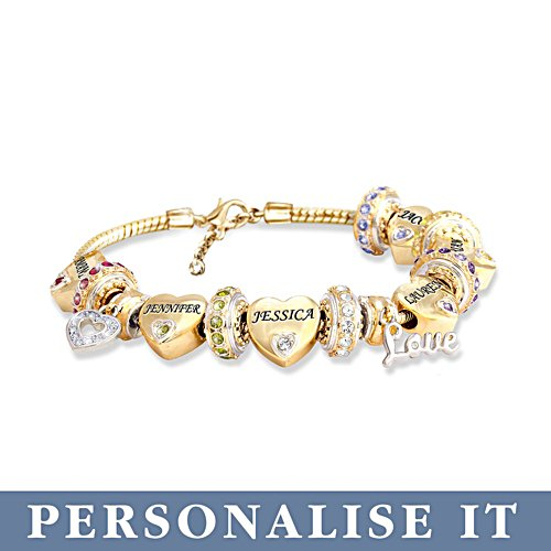 'Forever In A Mother's Heart' Personalised Bracelet
