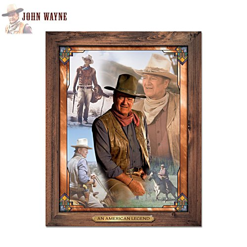 'The Legend Of John Wayne' Self-Illuminating Wall Décor