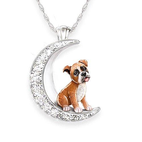 Mein treuer Boxer – Silberplattierter Hunde-Anhänger