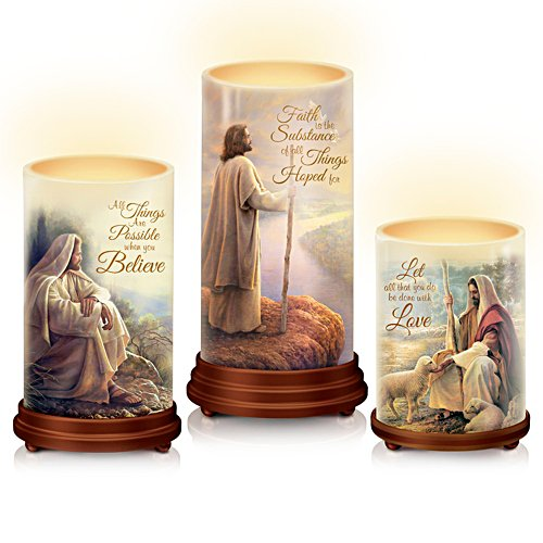 'Pillars Of Faith' Bible Candle Set