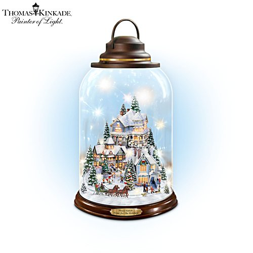 Thomas Kinkade 'Home For The Holidays' Lantern