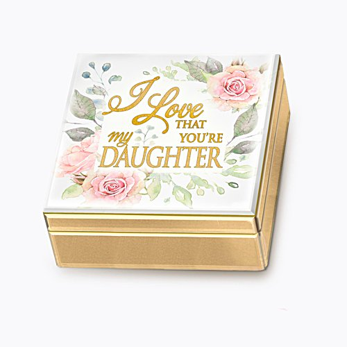'I Love That You're My Daughter' Mirrored Music Box