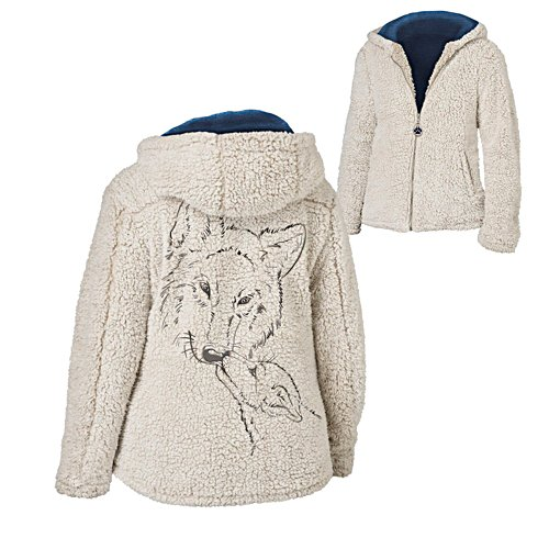 'Warmth Of The Wild' Wolf Sherpa Jacket