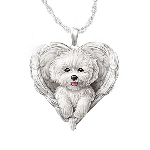 Bichon Frise 'Dogs Are Angels' Ladies' Pendant