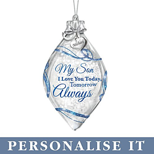 'My Son, I Love You' Personalised Illuminated Ornament