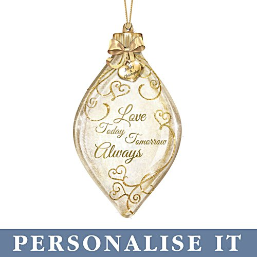 'Love Today, Tomorrow, Always' Personalised Illuminated Ornament