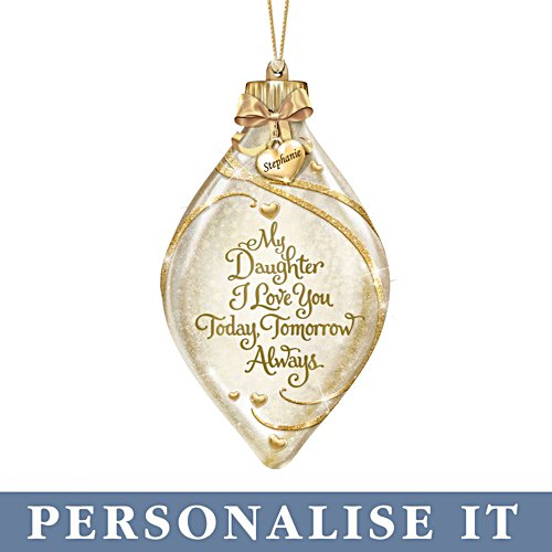 'My Daughter, I Love You' Personalised Illuminated Ornament