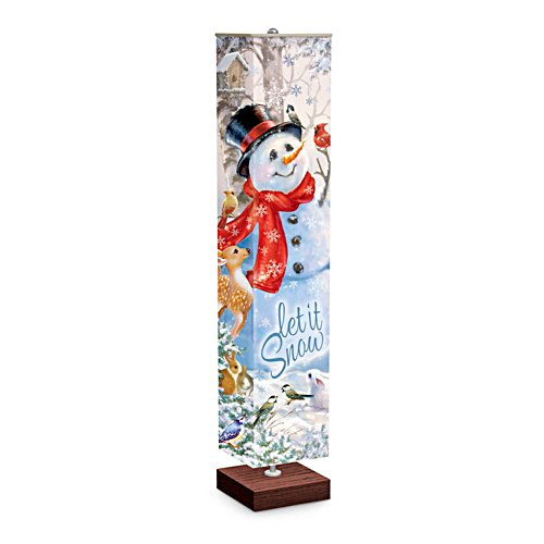 Dona Gelsinger 'Let It Snow' Lamp
