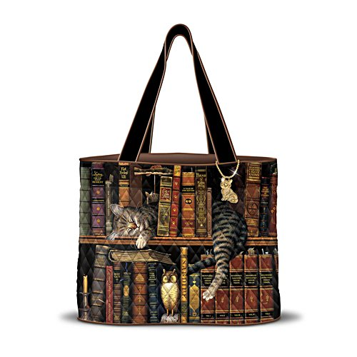 Charles Wysocki 'Purrfect Tales' Cat Tote Bag
