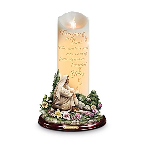 'I Am With You Always' Flameless Footprints Poem Candle