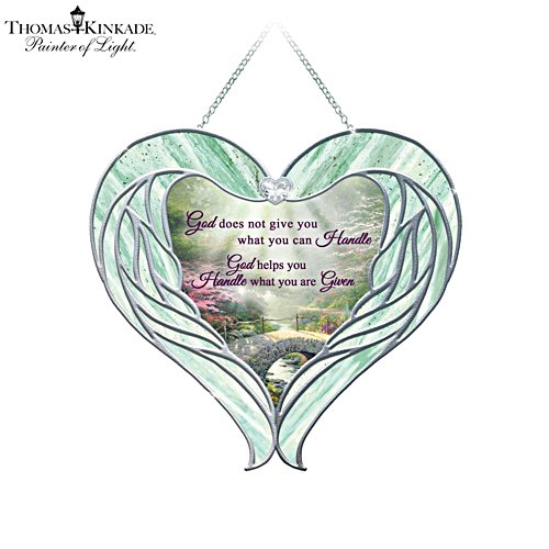 Thomas Kinkade 'Heavenly Messenger' Glass Suncatcher
