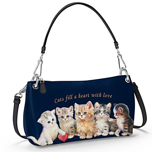 Ein Herz für Kätzchen — Kunstlederhandtasche