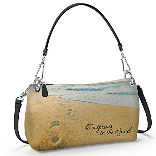 'Footprints In The Sand' 3-Style Ladies' Handbag