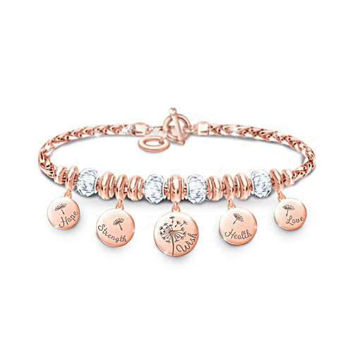 'Nature's Healing Wishes' Ladies' Copper Charm Bracelet