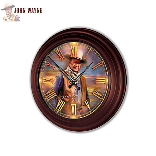 John Wayne: Timeless Legend' Wall Clock
