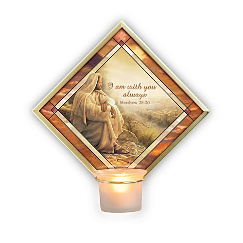 'I Am With You Always' Wall Décor Votive Candleholder