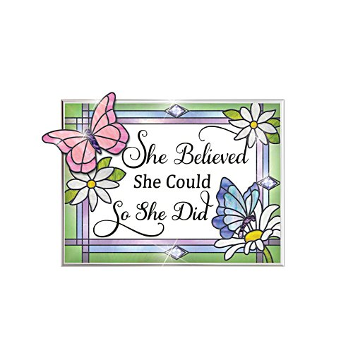 'She Believed She Could' Suncatcher