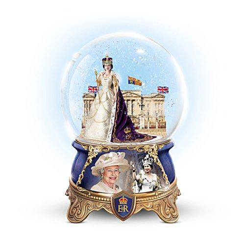 'Queen Elizabeth II Coronation' Musical Glitter Globe