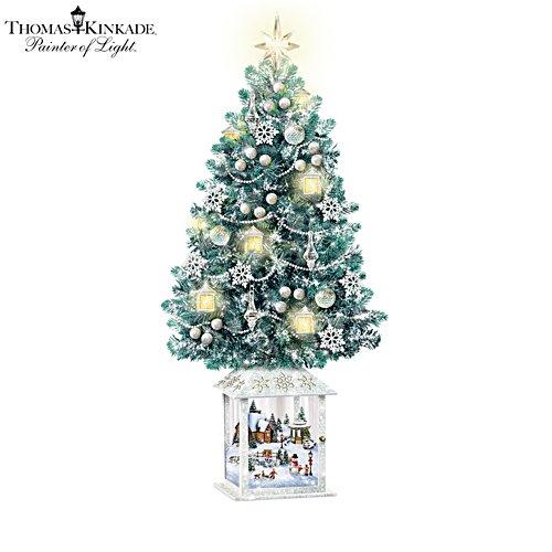 Thomas Kinkade 'Festival Of Lights' Illuminated Tabletop Christmas Tree