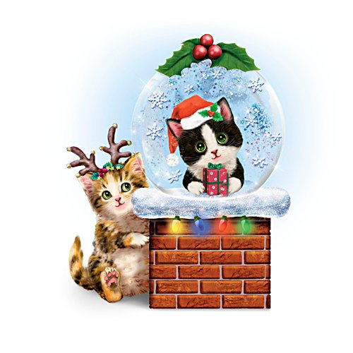 Festtags-Kätzchen — Schneekugel