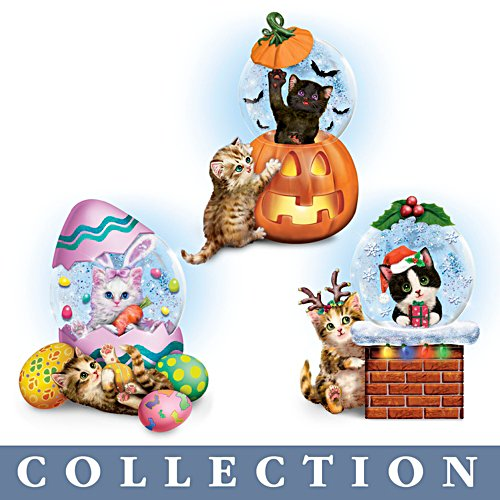 Kayomi Harai Holiday Water Globe Collection