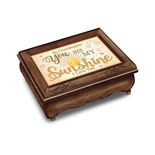 'Granddaughter, You Are My Sunshine' Wooden Music Box