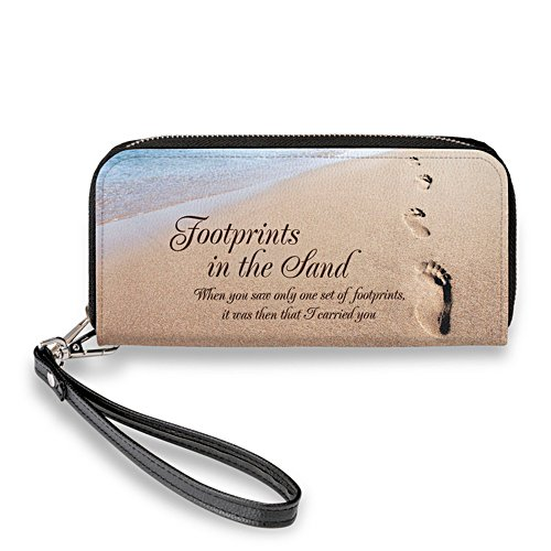 'Footprints In The Sand' Wristlet Purse