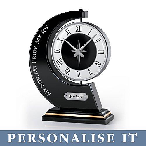 'My Son, My Pride, My Joy' Personalised Clock