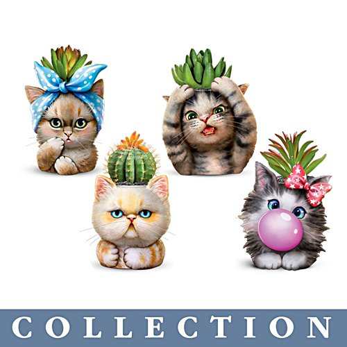 Kayomi Harai 'Purr-fect Planters' Cat Succulent Sculpture Collection