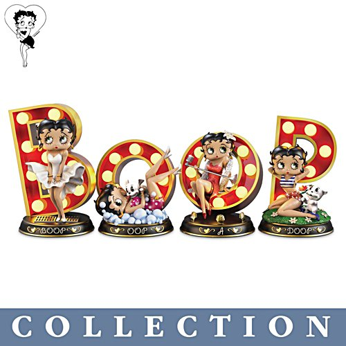 Betty Boop™ 'Timeless Beauty' Lit Marquee Letter Sculpture Collection